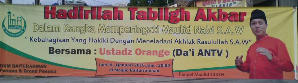 Tabligh Akbar Perdana 2016 Bersama UstadZ Orange Indonesia