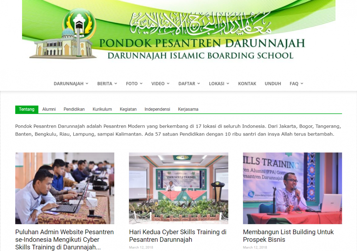 Website Darunnajah,
