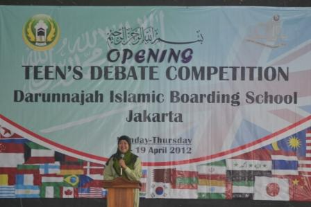 Opening Teen's Debate Competition 2012-2013