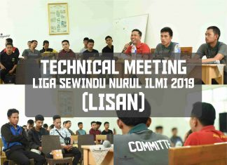 TECHNICAL MEETING LIGA SEWINDU NURUL ILMI (LISAN) 2019