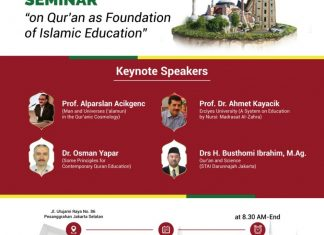 Dibuka Pendaftaran International Seminar on Qur'an as Foundation of Islamic Education